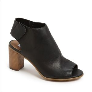 Steve Madden Nonstp Black Leather Booties